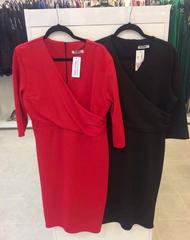 Punane 3/4 varrukatega midi kleit