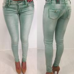 Rohekad madalama lõikega teksapüksid
