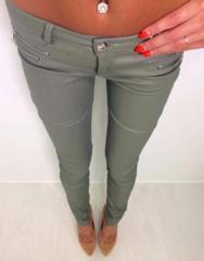 Khakid nahksed püksid lukkudega