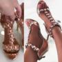 Pronksi värvi lahtised kingad