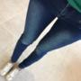 Tumesinised lukkudega teksapüksid