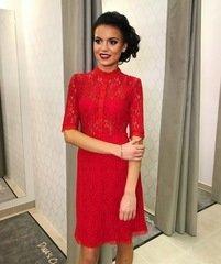Punane vabalt langev pits kleit
