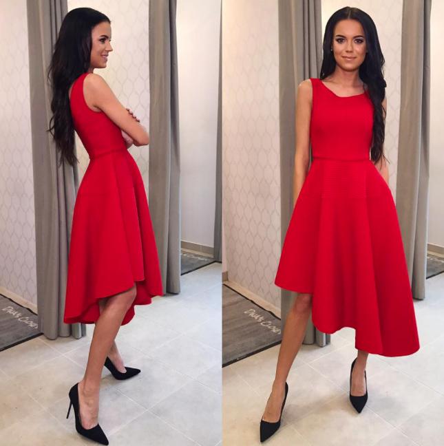 Punane pikem skater kleit