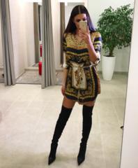 Leopardi mustriga casual kleit
