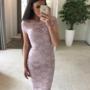Beezikas/roosa pits midi kleit