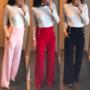 Kõrge pihaga püksid - 3 tooni