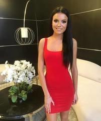 Punane casual midi kleit