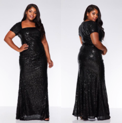 Must glitter maksikleit (plus size)
