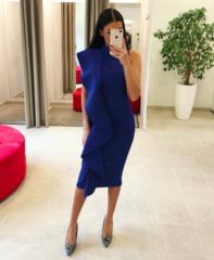 Sinine volang midi kleit