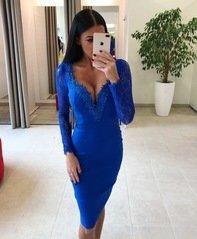 Sinine pits äärega midi kleit