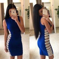 Sinine seksikas bandage kleit