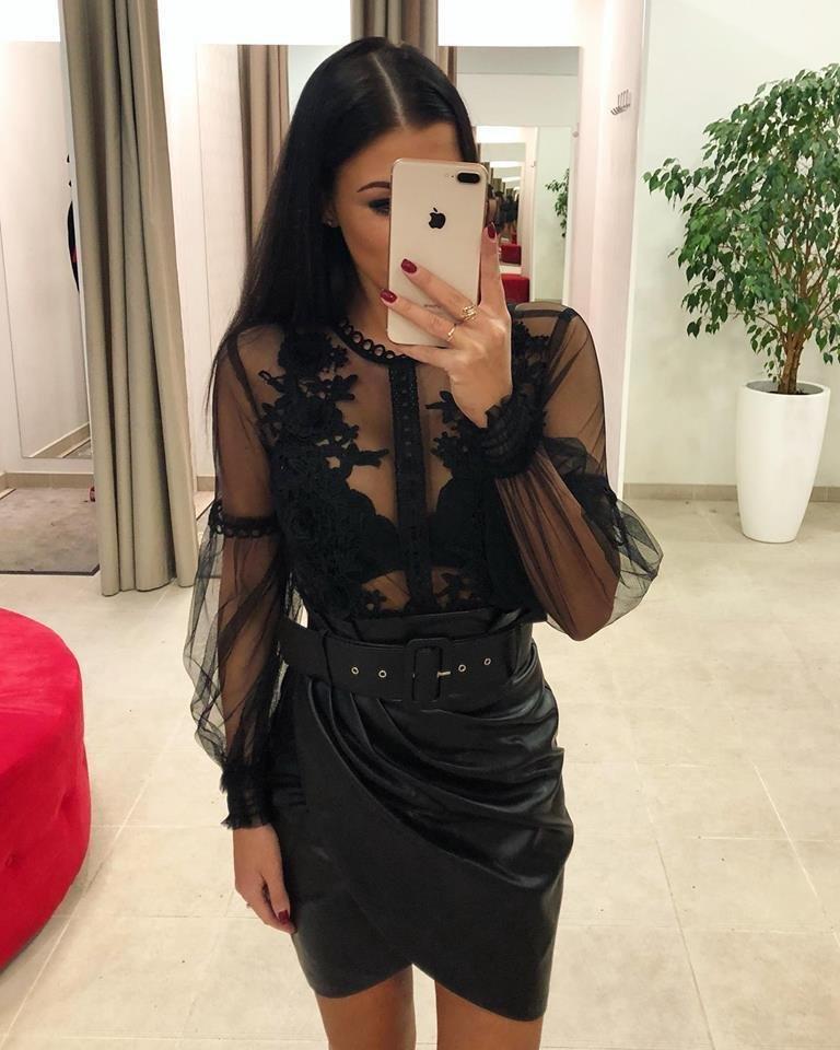 ad3c0d8c4eb Dina's Closet: Must nahkne seelik vööga