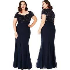 Must naiselik maksikleit (plus size)