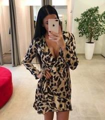 Leopardi mustriga volang kleit
