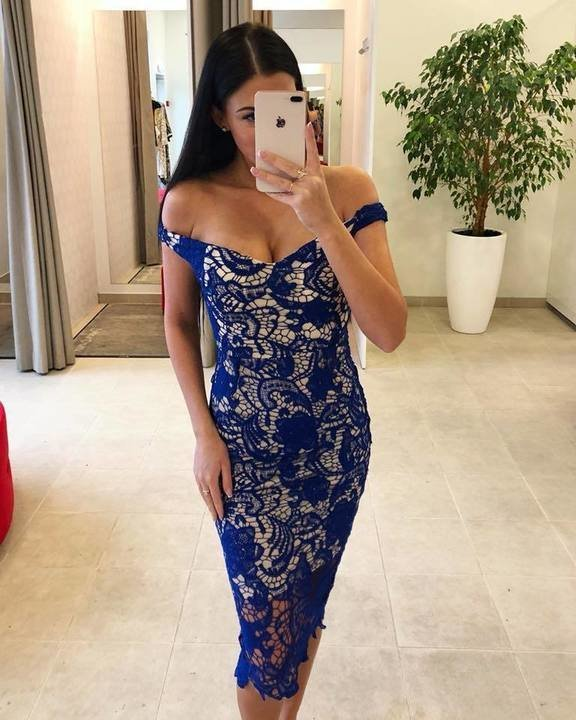 Sinine pits midi kleit
