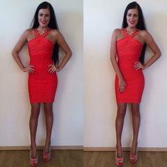 Oranzikas bandage kleit