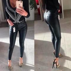 Mustad kvaliteetsed nahksed püksid