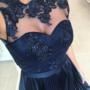 Tumesinine kvaliteetne skater kleit