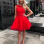 Punane luksuslik skater kleit