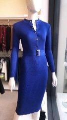 Sinine kootud midi kleit