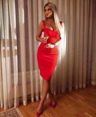 Punane bandage midi kleit