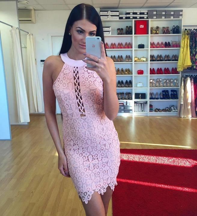 Heleroosa pits kleit
