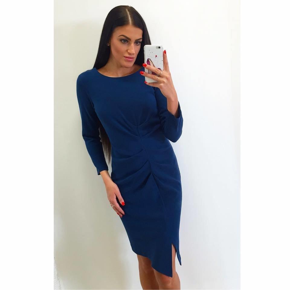 0d17a17d11c Dina's Closet: Tumesinine 3/4 varrukatega midi kleit