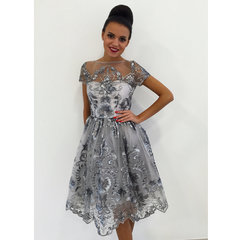 Hall pidulik glitter skater kleit