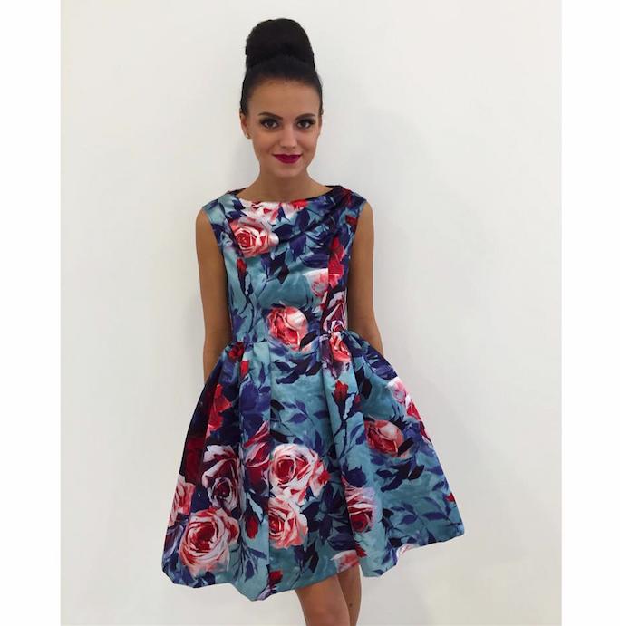 Sinine lilleline skater kleit