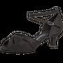 Ladina tantsukingad –musta värvi seemisnahk, Latino konts 5 cm, laiale jalale