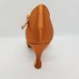 Ladina tantsukingad - normaalsele jalale, beezi värvi satiin, eest reguleeritavad, ladina konts 6 cm