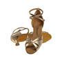 Ladina tantsukingad – kuldset värvi seemis- ja kunstnahk, flare konts 5 cm