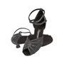 Ladina tantsukingad – must-hõbe, flare konts 5 cm ja 6.5 cm