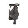 Ladina tantsukingad – must-hõbe, flare konts 5 cm