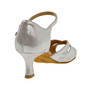 Ladina tantsukingad – nahk, hõbe-valge, flare konts 5 cm