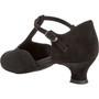 Peotantsukingad - seemisnahk, must, laiale jalale, spanish konts 4.2 cm