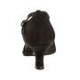 Peotantsukingad - seemisnahk, must,  laiale jalale, latino konts 5 cm