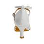 Pulma- ja peotantsukingad - nahk, valge, latino konts 5 cm