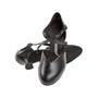 Peotantsukingad - nahk, musta värvi,  spanish konts 5.5 cm