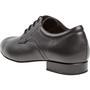 Meeste tantsukingad - musta värvi nahk,eriti laiale jalale, konts 2cm