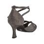 Ladina tantsukingad - pronksi värvi, normaalsele jalale, Flare konts 6,5 cm