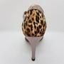 Ladina tantsukingad - leopardi mustriga materjal, pronksi värvi rihmad, tikk konts 8,5 cm