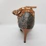 Ladina tantsukingad - ussi mustriga, rihmad pronksi värvi, tikk konts 8,5 cm