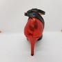 Ladina tantsukingad - musta ja punast värvi nahk, tikk konts 8,5 cm