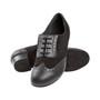 Naiste trennikingad - musta värvi nahk/seemisnahk, normaalsele jalale, bloc konts 2,8 cm