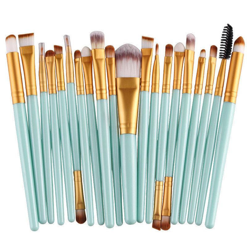 Piece Mint Makeup Brush Set