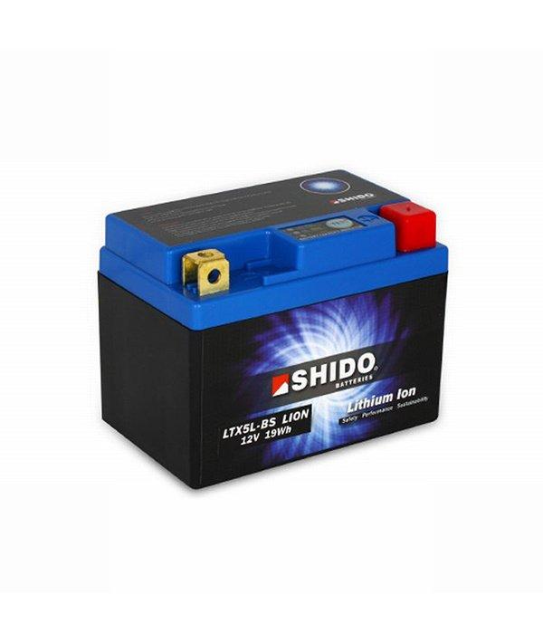 SHIDO LTX5L-BS 12V 1.6Ah 95A Li-ion battery -+