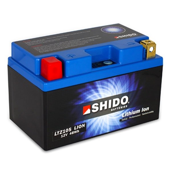 SHIDO LTZ10S 12V 4Ah 240A lithium-ion battery +-