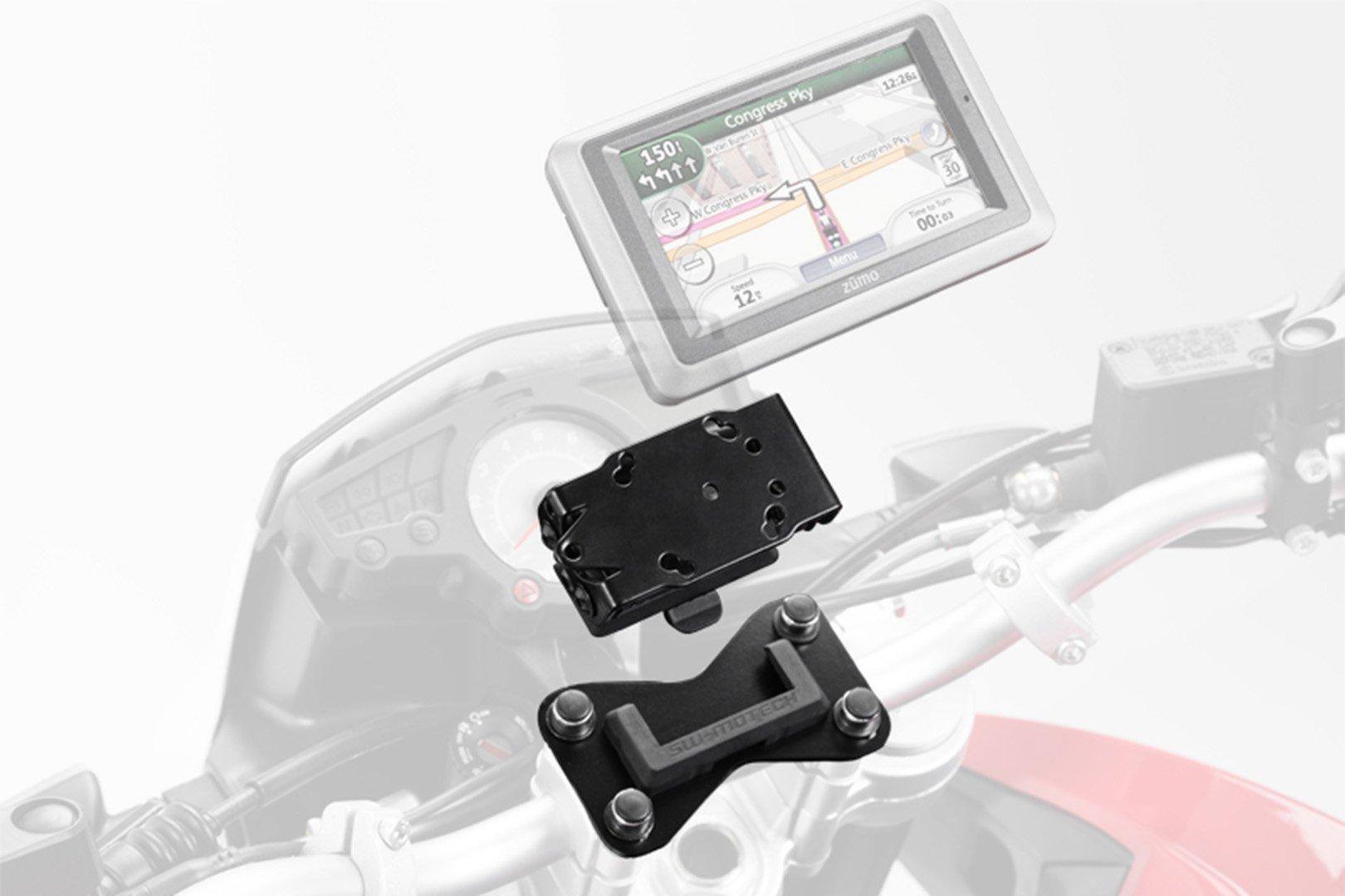 SW-Motech GPS mount for cockpit (black) BMW K 1200 GT (06-08), K 1300 GT (09-11)