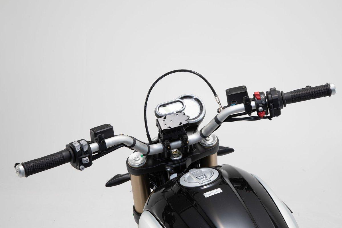 SW-Motech GPS mount for handlebar (black) Ducati Scrambler 1100 Sport (17-)